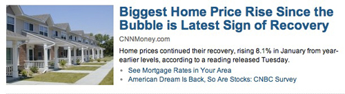 """Housing """"Recovery"""""""