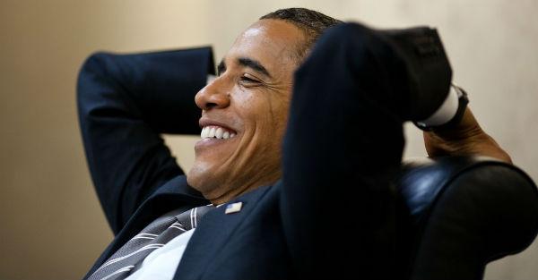 Obama enjoying it while it lasts