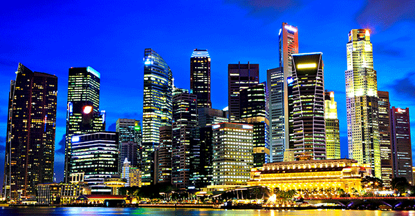 Singapore-night-skyline