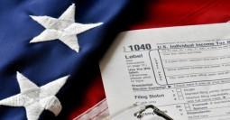 taxes-american-flag